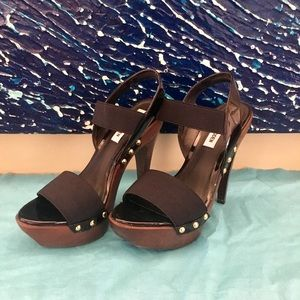 Steve Madden Studded Platform Heel - Black/Brown